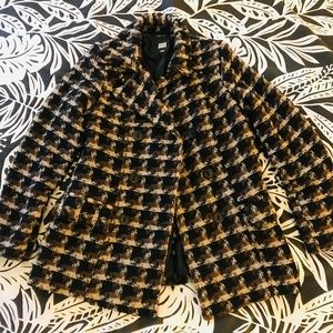 Old Navy Houndstooth Winter Peacoat, Size M